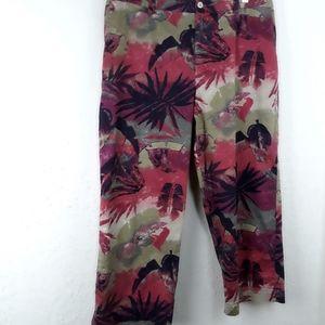 Chico's Design Crop Jeans Style Capris Sz. 3 EUC